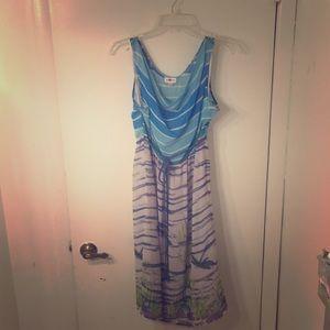 Anthropologie 'darting dragonfly' spring dress
